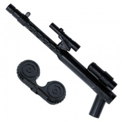 Lego Accessoires Minifigure - Clone Army Customs - Storm Machine Gun (Noir)