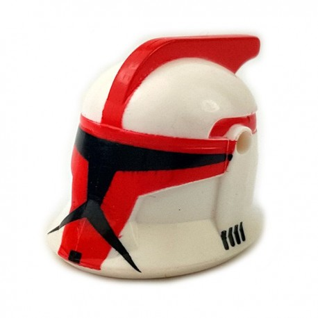 Lego Accessoires Minifigures Star Wars - Clone Army Customs - Casque CWP1 ARC Rouge