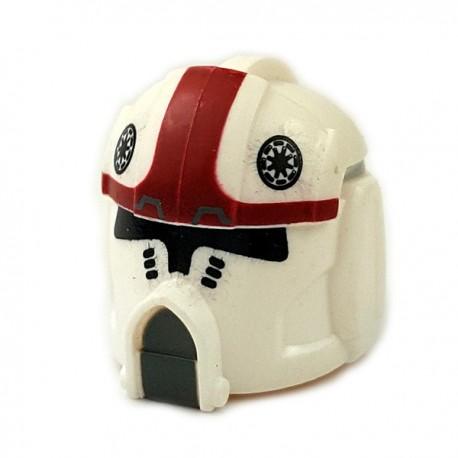 Lego Accessoires Minifigures Star Wars - Clone Army Customs - Pilot Dark Red Helmet