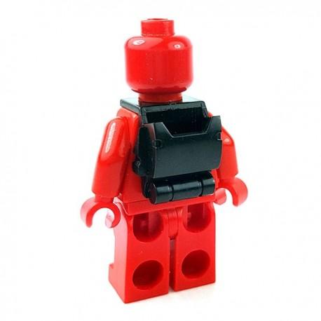 Lego Accessoires Minifigures Star Wars - Clone Army Customs - Open Back Pack (Noir)