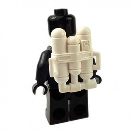 Lego Accessoires Minifigures Star Wars - Clone Army Customs - Flame Back Pack (Blanc)
