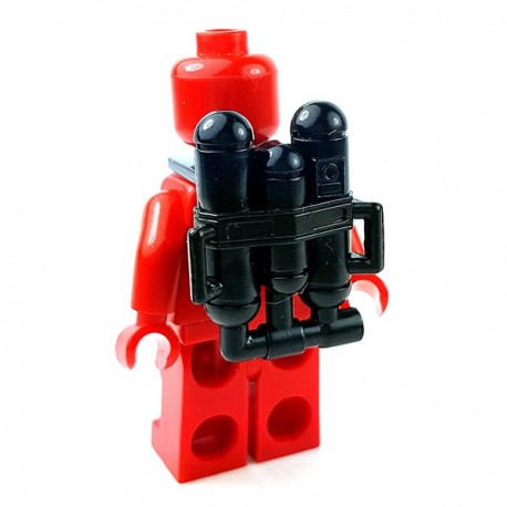 Lego Accessoires Minifigures Star Wars - Clone Army Customs - Flame Back Pack (Noir)