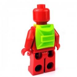 Lego Accessoires Minifigure - Sac à dos (Lime)