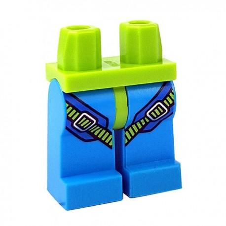 Lego Accessoires Minifigure - Jambes avec Harnais (Dark Azure)