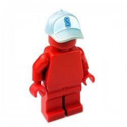 "Lego Accessoires Minifigure - Casquette ""S"" (Light Bluish Gray)"