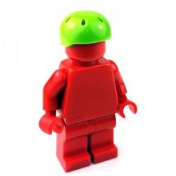 Lego Accessoires Minifigure - Casque de sport (Lime)