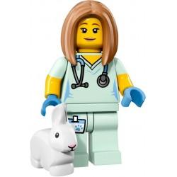 LEGO Minifig - la vétérinaire 71018 Serie 17