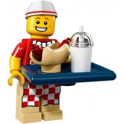 LEGO Minifig - le vendeur de hot-dogs 71018 Serie 17