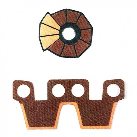 Lego Minifigure Accessoires Capemadness - Epaulette et Kama Flame Trooper 1