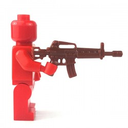 Lego Accessoires Minifigure - Si-Dan Toys - Assault Rifle T86 (Marron)