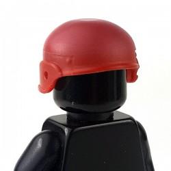 Lego Accessoires Minifigure - Si-Dan Toys - Casque M2002K (Rouge foncé)