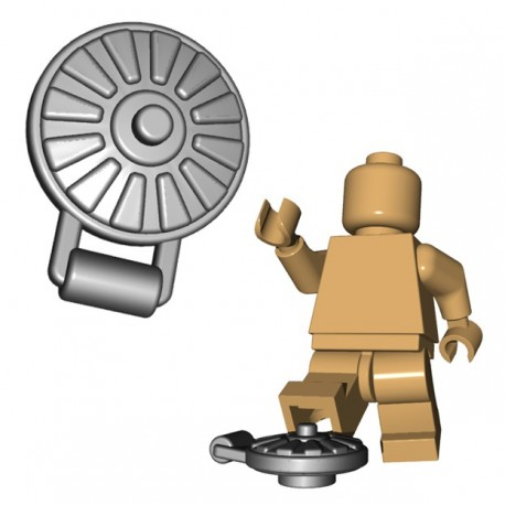 Lego Accessoires Minifigure BrickWarriors - Land Mine (Steel)