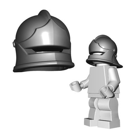Lego Accessoires Minifigure BrickWarriors - Casque Sallet (Steel)