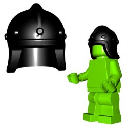 Brick Warriors - Archer Helmet (Black)