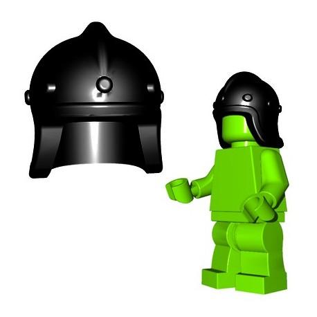 Lego Accessoires Minifigure BrickWarriors - Casque Archer (Noir)