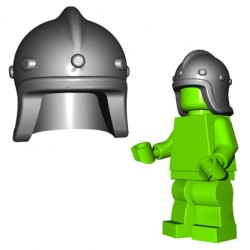 Lego Accessoires Minifigure BrickWarriors - Casque Archer (Steel)