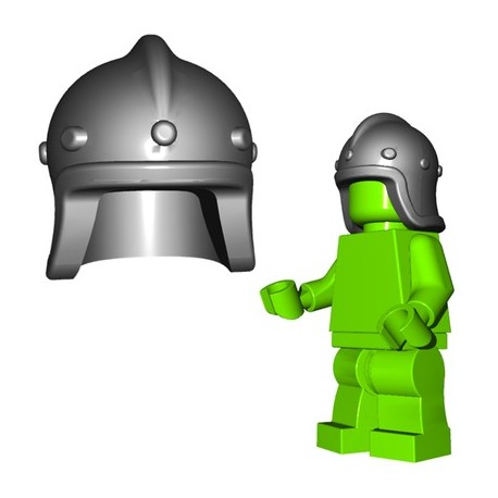 Lego Accessoires Minifigure BrickWarriors - Casque Archer (Steel)