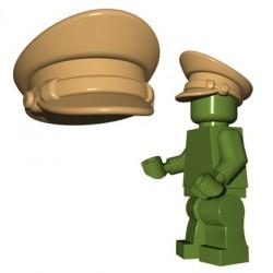 Lego Accessoires Minifigure BrickWarriors - Casquette Officier (Beige foncé)