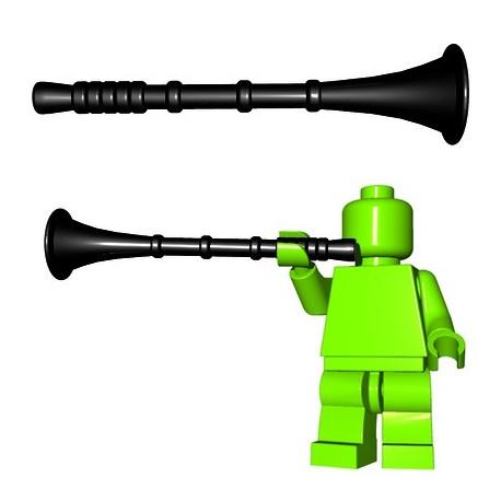 Lego Accessoires Minifigure BrickWarriors - Trompette de Héraut (Noir)