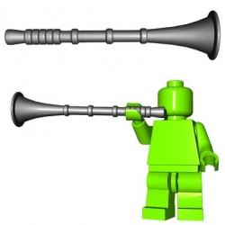Lego Accessoires Minifigure BrickWarriors - Trompette de Héraut (Steel)