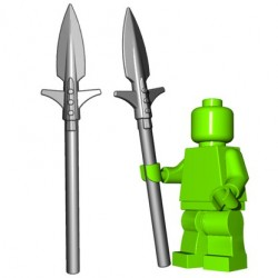 Lego Accessoires Minifigure BrickWarriors - Boar Spear (Steel)