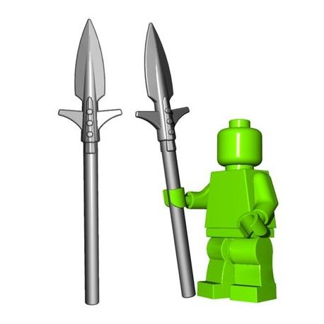 Lego Accessoires Minifigure BrickWarriors - Boar Spear (Steel)