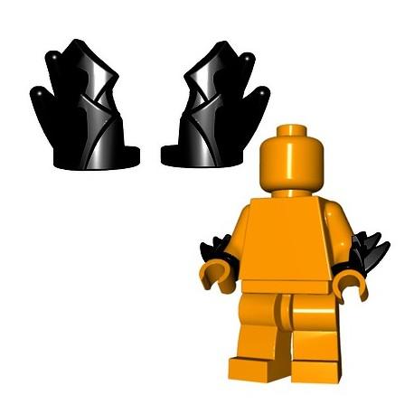 Lego Accessoires Minifigure BrickWarriors - Brassards à Lames (Noir - la paire)