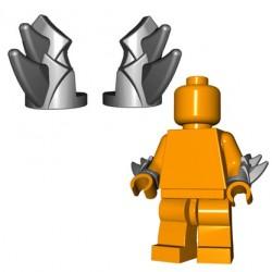Lego Accessoires Minifigure BrickWarriors - Brassards à Lames (Steel - la paire)