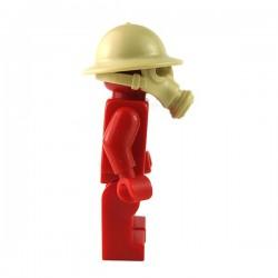 Lego Accessoires Minifigure BrickWarriors - Masque à Gaz Anglais (Beige)