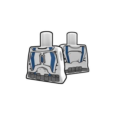 Lego Minifigure Accessoires Star Wars Arealight - Torse féminin Blanc Stalker