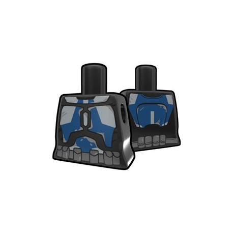 Lego Minifigure Accessoires Star Wars Arealight - Torse féminin Noir Stalker