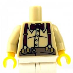 Lego Minifigure - Torse - Bretelles (Beige)