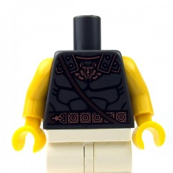 Lego - Pearl Dark Gray Torso Bare Chest Muscles Outline & Copper & Belt