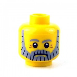 Lego Minifigure - Tête masculine jaune, 87
