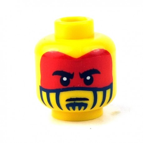 Lego - Yellow Minifig, Head Face Paint with Red War Paint