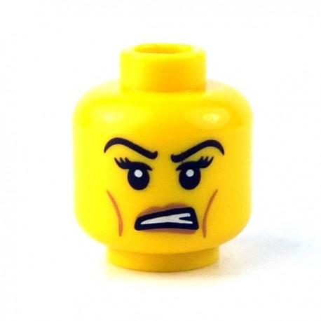 Lego Minifigure - Tête féminine jaune 22