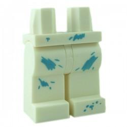 Lego Minifigure - Jambes avec taches de peinture (Blanc)