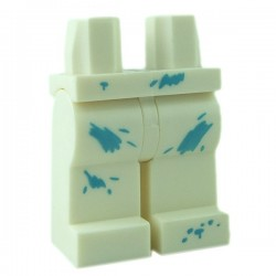 Lego - White Hips & Legs with Paint Spots Medium Azure