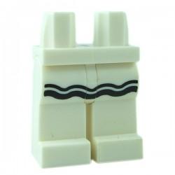 Lego Minifigure - Jambes avec volant noir (Blanc)
