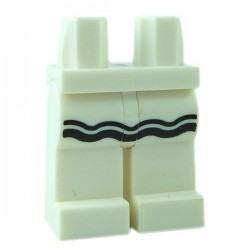 Lego - White Hips & Legs with Black Ruffle