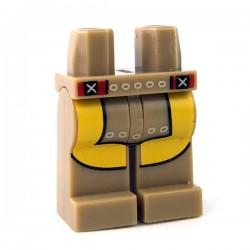Lego - Dark Tan Hips & Legs with Loincloth & Leggings