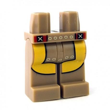 Lego Minifigure - Jambes avec pagne (Beige foncé)