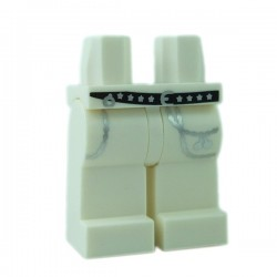 Lego - White Hips & Legs with Black Belt with Stars & Silver Chains