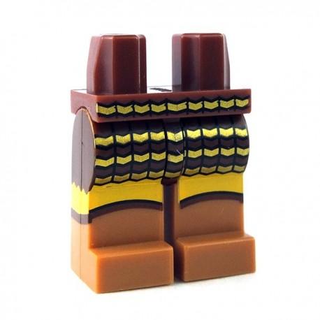 Lego Minifigure - Jambes avec armure (Reddish Brown)