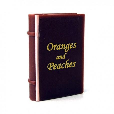 Lego Minifigure - Livre 'Oranges and Peaches' (Marron rougeâtre)