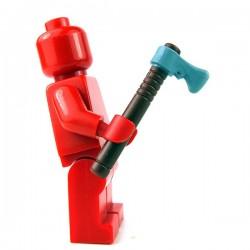 Lego Minifigure - Tomahawk (Reddish Brown / Flat Silver)