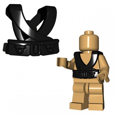 Lego Accessoires Minifigure BrickWarriors - Japanese Suspenders (Noir)