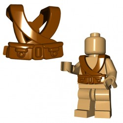 Lego Accessoires Minifigure BrickWarriors - Japanese Suspenders (Marron)