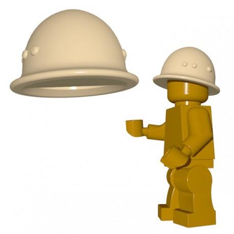 Lego Accessoires Minifigure BrickWarriors - Casque Japonais (Beige)