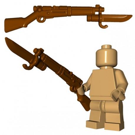 Lego Accessoires Minifigure BrickWarriors - Japanese Rifle (Marron)